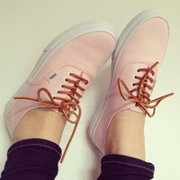 Brushed Twill Authentic Slim in Soft Pink