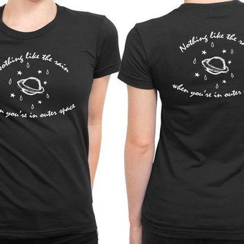 DCCKL83 5 Seconds Of Summer Outer Space Lyric 2 Sided Womens T Shirt