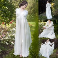Women's Renaissance Medieval Dress White - Free Shipping