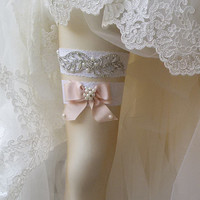 Wedding  Garter Set , Of White Lace Garter Set, Bridal Leg Garter,Rustic Wedding Garter, Bridal  Accessory, Rhinestone Crystal Bridal Garter