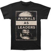 Animals As Leaders Men's  Skull T-shirt Black