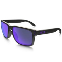 Oakley Holbrook Sunglasses Black Ink Frame Polarized Violet Iridium OO9102-67