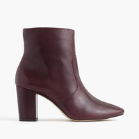 J.Crew Womens Leather Zip Ankle Boots