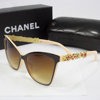 Perfect CHANEL Women Casual Popular Summer Sun Shades Eyeglasses Glasses Sunglasses