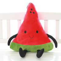 New Cartoon Smiley Emotion Cute Watermelon Soft Emoji Pillow