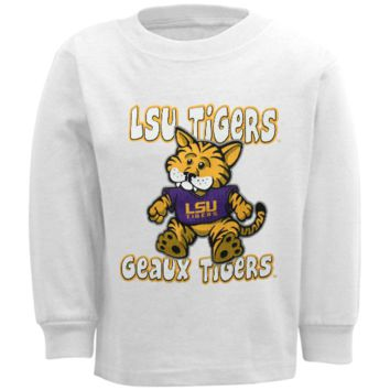 LSU Tigers Infant Stacker Long Sleeve T-Shirt - White - http://www.shareasale.com/m-pr.cfm?merchantID=7124&userID=1042934&productID=528461950 / LSU Tigers