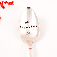 be thankful - Coffee Spoon- Vintage Silver Plated spoon