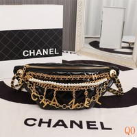 HCXX 19Aug 105 68907 Fashion Vintage Metal Accessories Pearl Chain Pocket 14-34-8CM Black