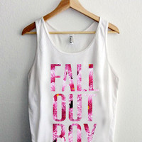 fall out boy flower awesome tanktop