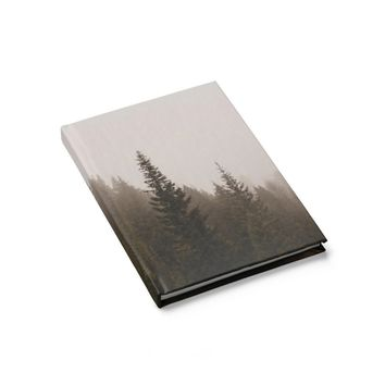 Elevation Drop Foggy Forest - 128 Page Hardcover Lined Journal