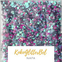 Holographic Glitter Mix Dots - Napa