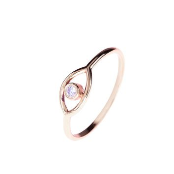 Mystic Eye Ring White Topaz