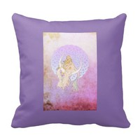 Samhain Greetings Lunar Goddess Throw Pillow