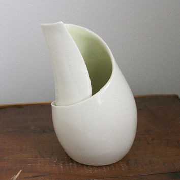 Sculpture Vase - Conversation Piece with Green Interior