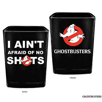 """1.5oz OFFICIAL Ghost Busters """"I Ain't Afraid Of No Ghosts"""" PREMIUM Black Shot Glass GIFT"""