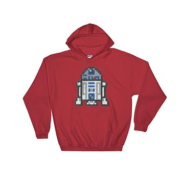 R2-D2 Perler Art Hooded Sweatshirt by Aubrey Silva