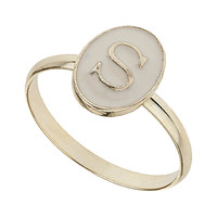 Enamel S Initial Ring - Jewelry - Accessories - Topshop USA