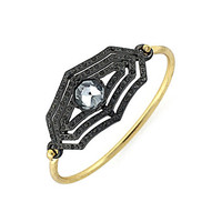 Jessica Simpson Two-Tone Crystal Bangle Bracelet - Multi