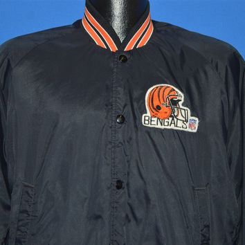 80s Cincinnati Bengals Snap Up Windbreaker Jacket Medium