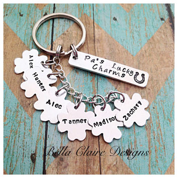 Daddy's Lucky Charms keychain Grandpa's Lucky Charms keychain Lucky Charms Keychain Father's Day Lucky Keychain Personalized Lucky Keychain