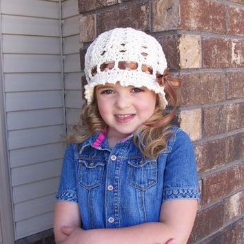 Crochet Pattern for Katrina Cloche Hat - 5 sizes, baby to adult - Welcome to sell finished items