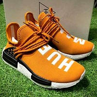 ADIDAS X Pharrell HU Human NMD co-branded men's and women's retro wild sports shoes