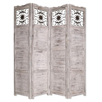 Screen Gems Nantucket Screen Room Divider, White