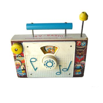 Fisher Price Ten Little Indians TV Radio - Fisher Price 159 - Collectible Toy - Retro Toy - Toddler Toy - 1960s Toy