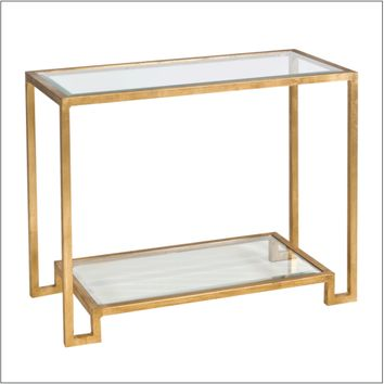 Worlds Away Lyle Console Table