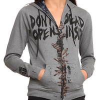 The Walking Dead Dead Inside Girls Zip Hoodie | Hot Topic