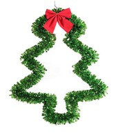 Christmas Tree Decorations With Red Bowknot