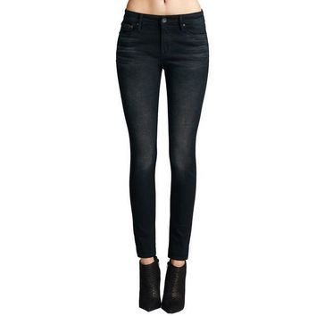Cult Of Individuality Gypsy Hi-rise Womens Jeans In Vintage Black - Beauty Ticks