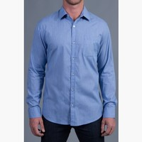 {Modern English} Chambray Dress Shirt in Blues on Parade