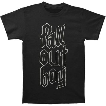 Fall Out Boy Men's  Text Logo T-shirt Black Rockabilia