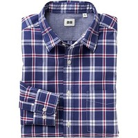MEN EXTRA FINE COTTON BROADCLOTH CHECK LONG SLEEVE SHIRT