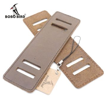 BOBO BIRD Genuine Leather Removable Wide Band for Bamboo Wood Watches Soft Broad Leather Strap