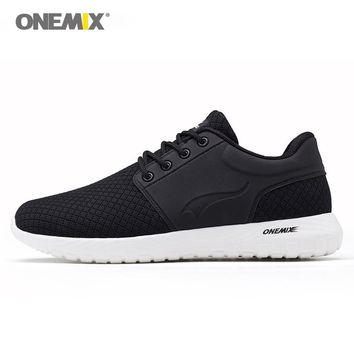 Onemix running shoes for men breathable mesh women sports sneaker lightweight lace-up