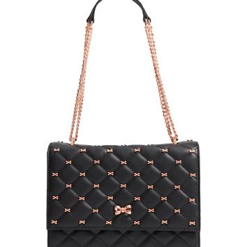 Ted Baker London Bow Quilted Leather Shoulder Bag | Nordstrom