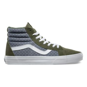Vans Chambray Dots SK8-Hi Reissue (green/insignia blue)