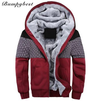 Men Vintage Thickening Fleece Jacket Autumn Winter Designer Famous Male Slim Fit Warm Coat