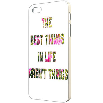 Quote iPhone Case - FREE Shipping to USA floral typography the best things in life aren't things minimalist iphone cases white pink