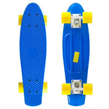 Blue Penny Style Cruiser Board 22 inch Plastic Skateboard Complete