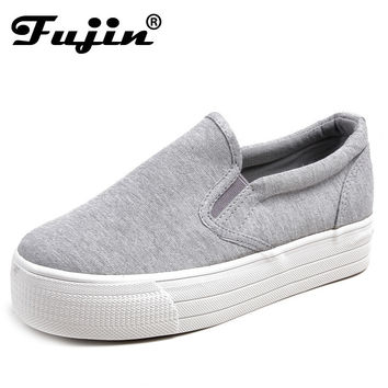 Ladies platform Shoes canvas shoes Flats Slip On Solid Woman Leisure breathable Shoe Female Fashion Casual Shoes slipony