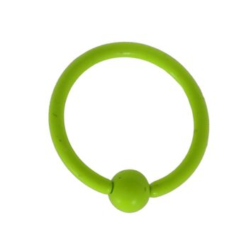 Lime Green Captive Bead Ring CBR 18G 3/8""