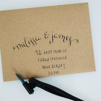 Hand-Envelope Addressing, Calligraphy