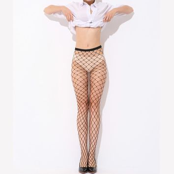 Fashion Women's Sexy Pantyhose Nylon Tights Fishnet Pattern Tights Punk Stockings Seam Pantyhose 2017 Hot  Autumn Winter