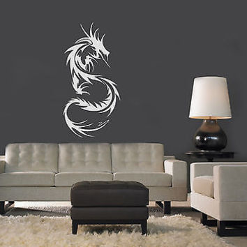 WALL VINYL STICKER  MURAL  ART DECAL TRIBAL TATTOO CHINESE DRAGON A1276
