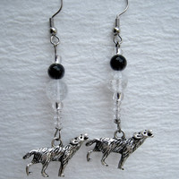 Game of Thrones House Stark Direwolf Earrings