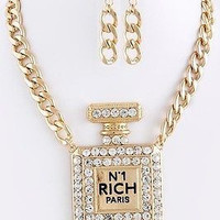 PERFUME BOTTLE CHAIN NECKLACE