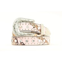 Women's Pink Mossy Oak Nail Head Belt